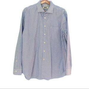 Joseph Abboud blue stripe button down shirt